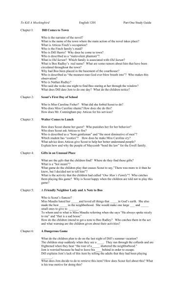 esl guide to kill a mockingbird