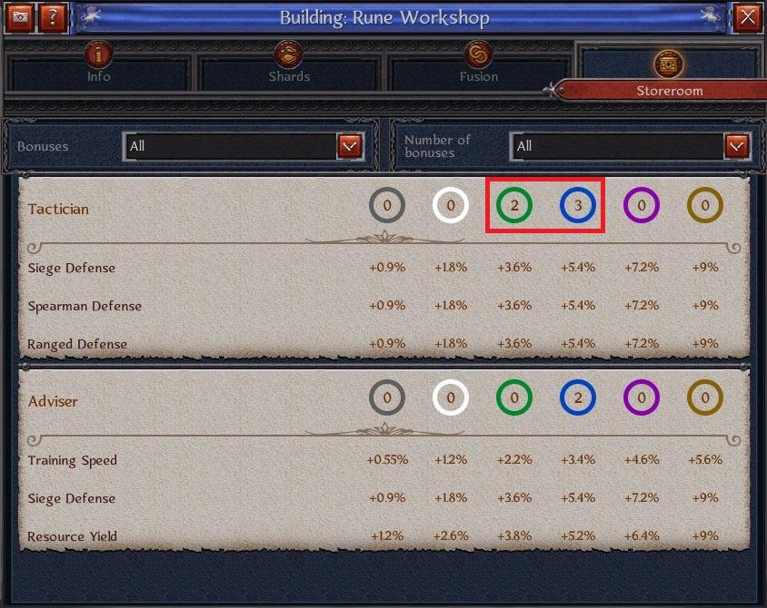 war of crown rune guide
