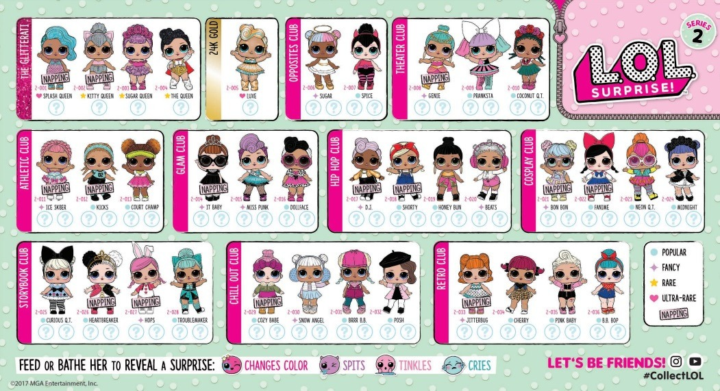 all lol dolls series 3 collecters guide sleepover club
