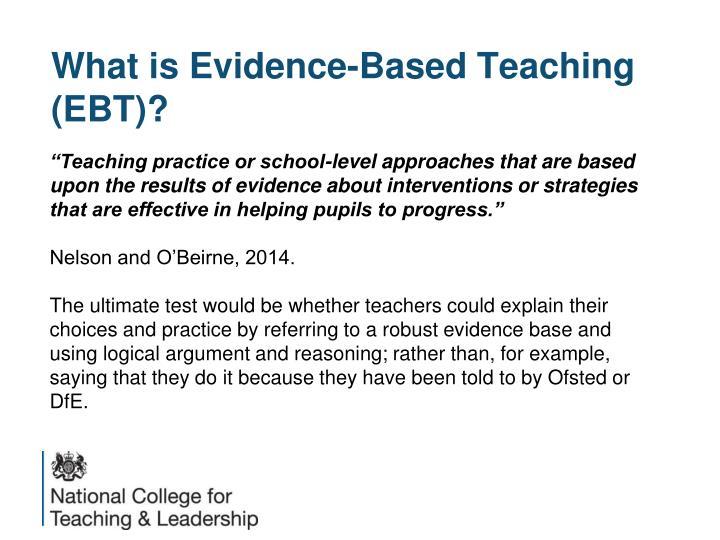 evidence-based practical guide for school teachers