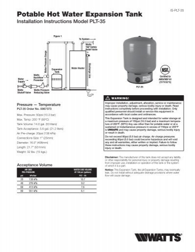 water tank installation guide for caravans